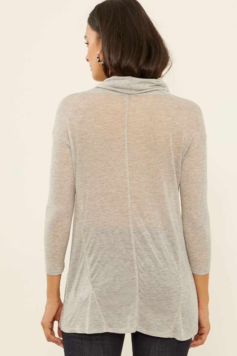 Gossamer Jersey Funnel Neck Top