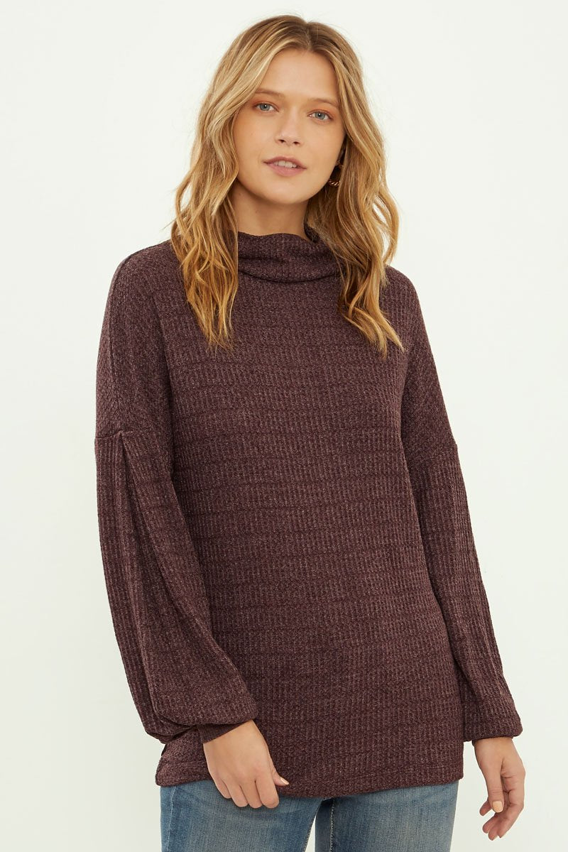 Heather Thermal Long Sleeve Top