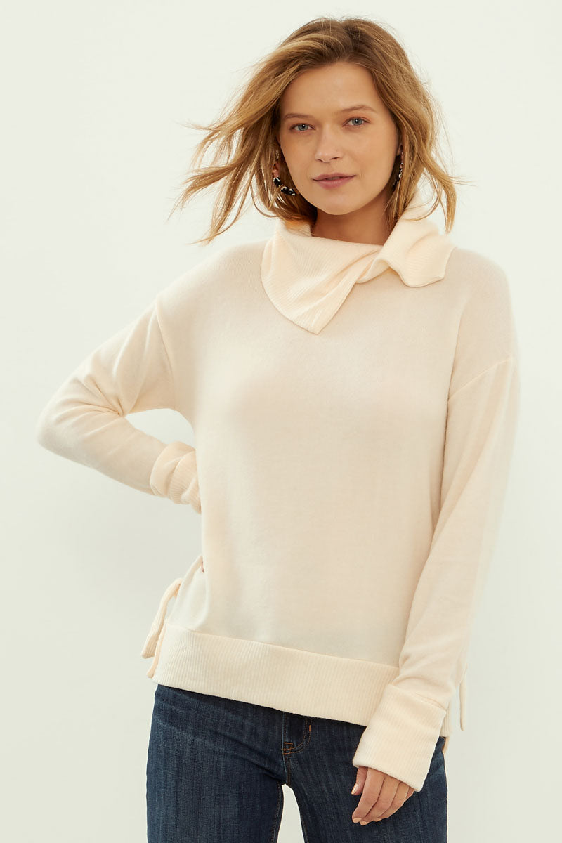 Sweater With Novelty Neck