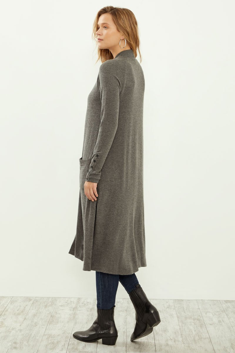 Brushed Long Cardigan Sweater