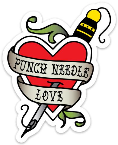 Punch Needle Love Sticker