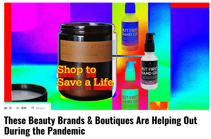 These Beauty Brands & Boutiques are helping out during the pandemic