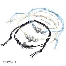 Load image into Gallery viewer, 'Remember the Turtles' anklet - blue, black or white