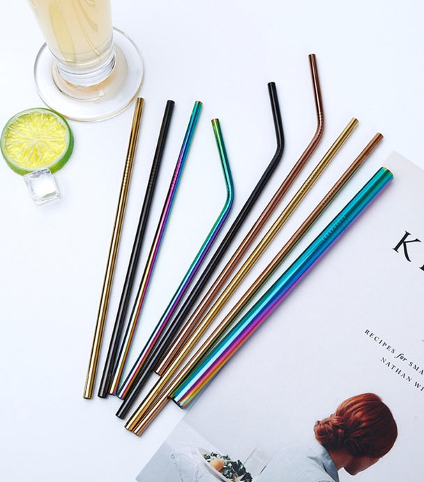 Eco Friendly 'straight' Straws with Free cleaning Brush