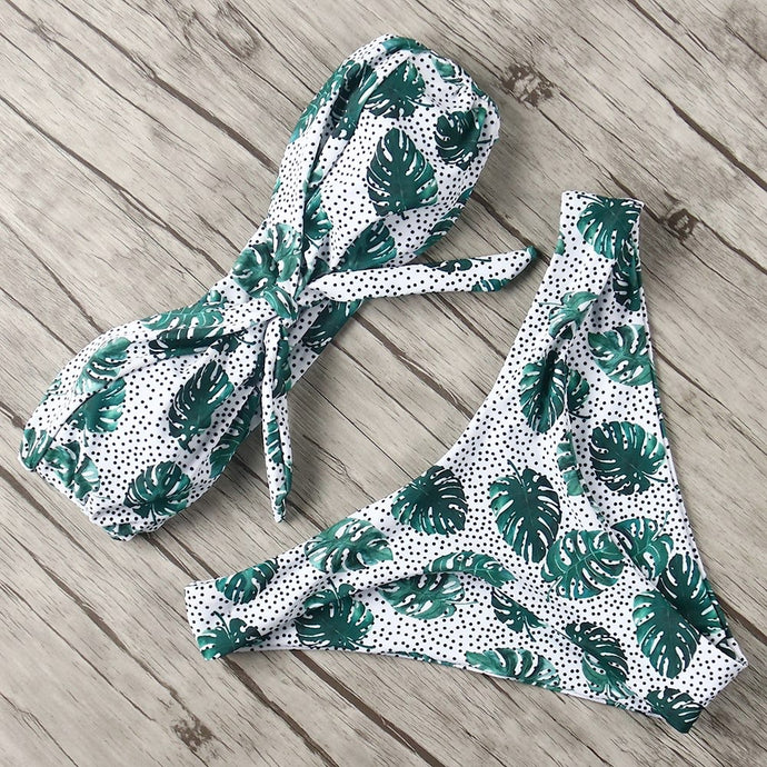 'Jungle book' palm tree print bikini set