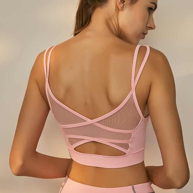 'Feeling flawless' mesh back sports bra