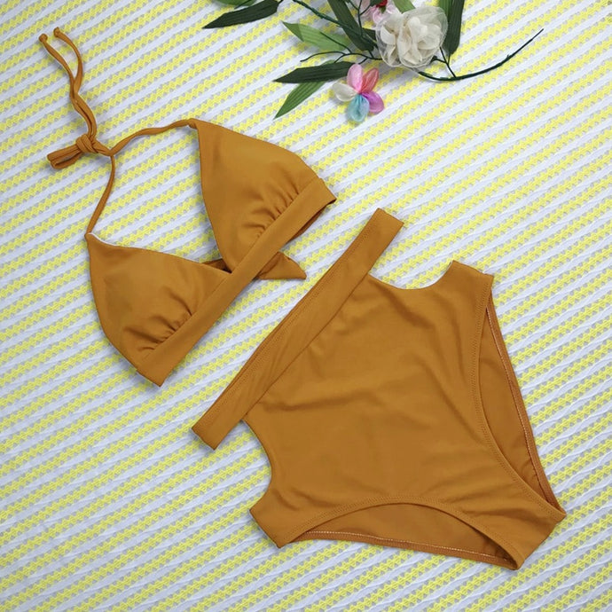 'Nora' high waisted bikini set