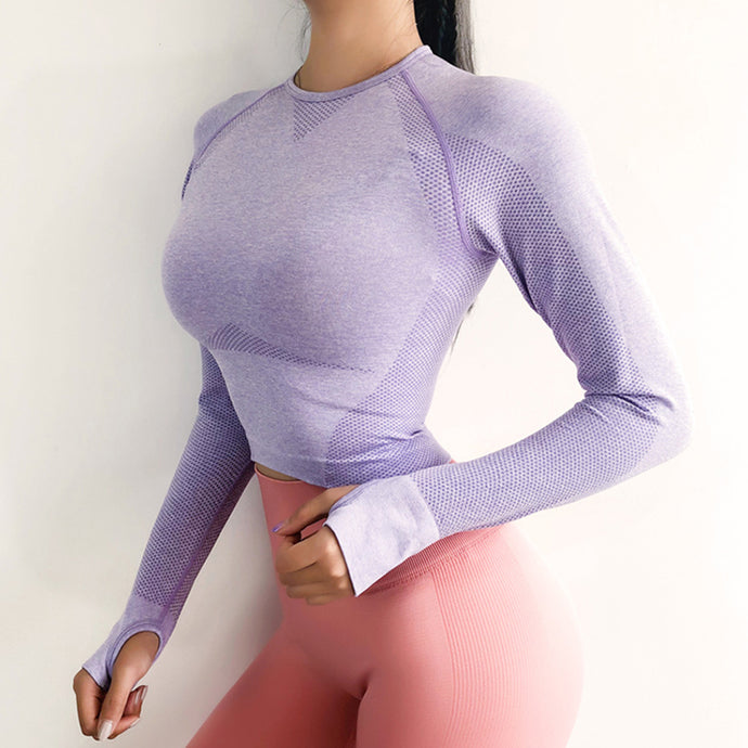 'Feeling fierce' workout long sleeve crop top - 3 colours