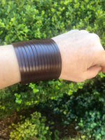 Slit Leather Cuff