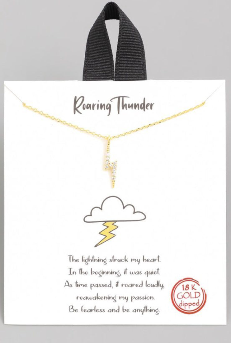 Roaring Thunder Dainty Necklace