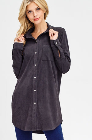 Corduroy Shirt Dress