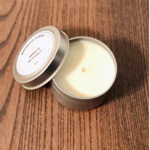 Amber Whiskey 3oz Tin Soy Wax Candle