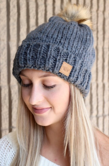 Gray Knitted Beanie