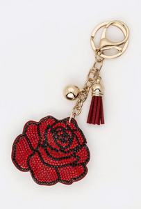 Crystal Rose Keychain
