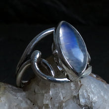 Load image into Gallery viewer, Rainbow Moonstone Gemstone Sterling Silver Ring