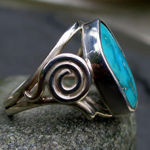 Sleeping Beauty Turquoise Gemstone Ring