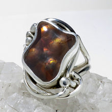 Load image into Gallery viewer, Fire Agate Gemstone Silver Ring