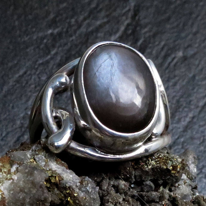 Sterling Silver Grey Moonstone Ring