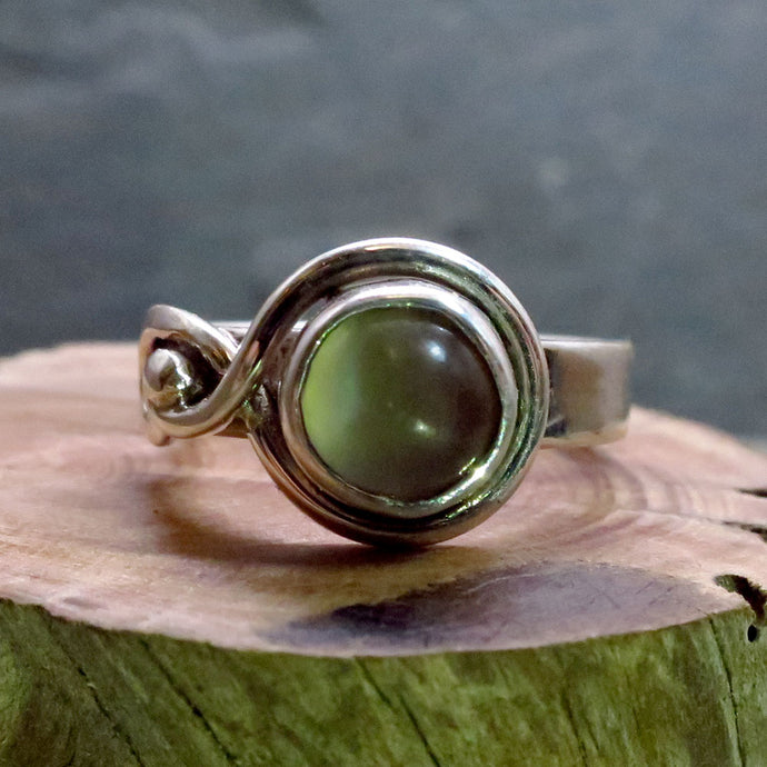 Custom Silver Moonstone Ring