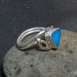 Natural Sleeping Beauty Turquoise Gemstone Ring