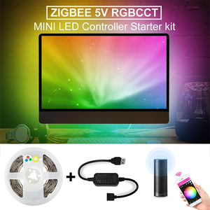 LED Strip & Mini Controller - RGB+CCT USB 5v Kit (TV's, Cupboards)