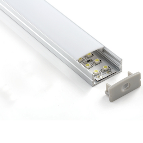 Wide Surface Mount LED Strip Aluminium Profile - 20mm (2m)