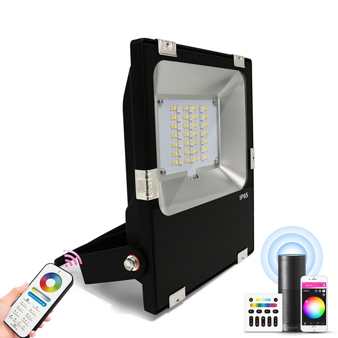 Outdoor Floodlight 30w LED Light Zigbee & RF RGBW and CCT Colours IP65