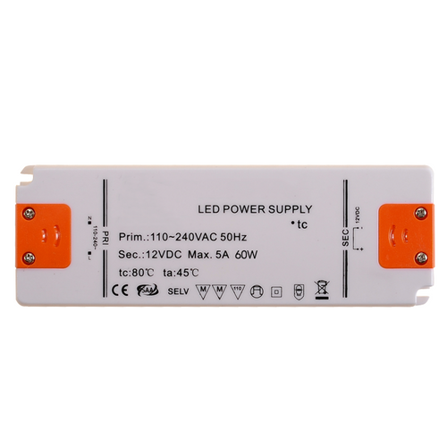 Ultraslim LED Driver Power Supply DC12v / 60w / 5A / AC200-240v