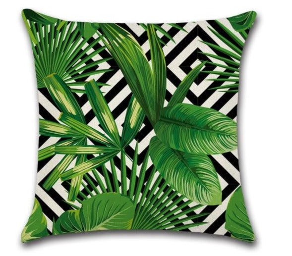 Tropical plant cushion cover - Linen