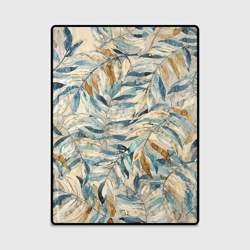 Leaf rug contemporary