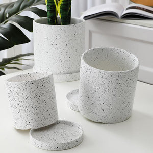 Ceramic Plant Pot with Drainage Tray