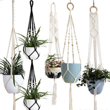 Load image into Gallery viewer, Handmade macrame plant hanger