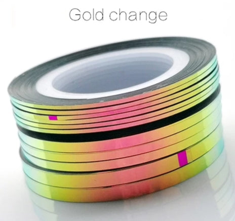 Gold change striping tape
