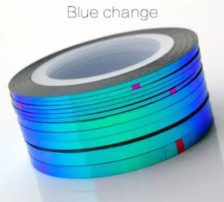Blue change striping tape