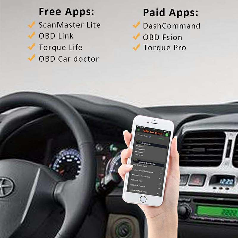 Auto OBD Scanner Car Fault Diagnosis Instrument Support【Android IOS】