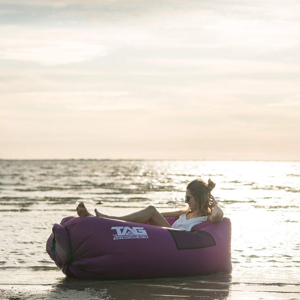 Superb Ultralight Inflatable Lazy Sofa With Pillow Beach Chair For Pabps2019 Chair Design Images Pabps2019Com