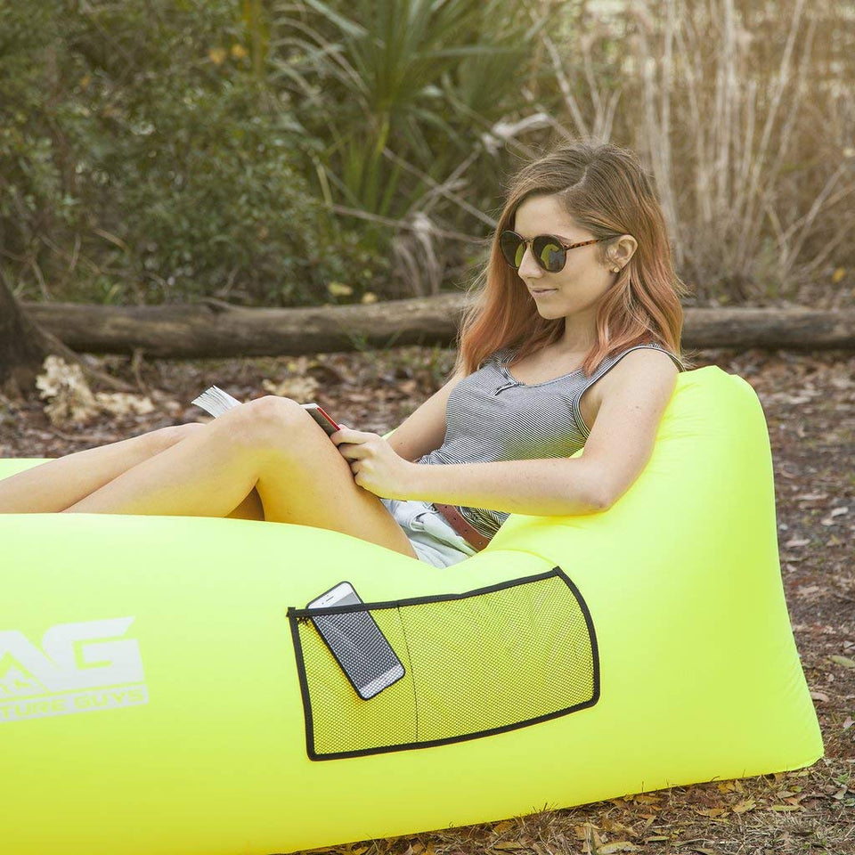 Pleasant Ultralight Inflatable Lazy Sofa With Pillow Beach Chair For Pabps2019 Chair Design Images Pabps2019Com