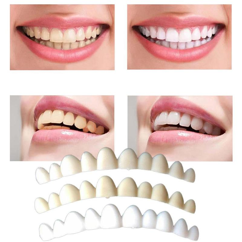 Whitening Perfect Smile Veneer Teeth Fake Tooth Cover On Smile Instant  Teeth Cosmetic Denture Care for Upper One Size Fits