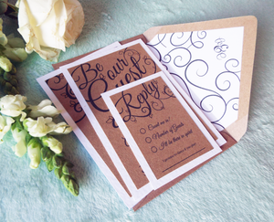 Be Our Guest Kraft Wedding Invitation Set