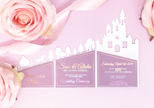 Load image into Gallery viewer, Castle Cut Out Wedding Invitation
