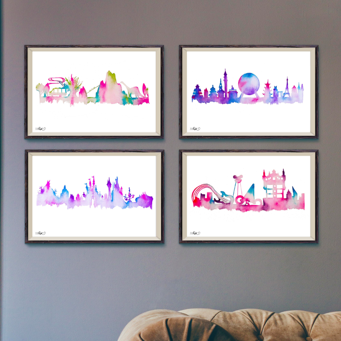 Set of 4 Park Prints