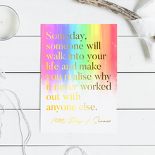 Load image into Gallery viewer, Love Quote with Real Foil Art Print