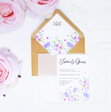 Load image into Gallery viewer, Floral Vellum Wrap Wedding Invitation Set