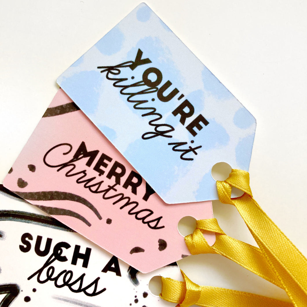 Luxury Christmas Gift Tag Set