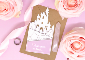 Castle Cut Out Wedding Invitation