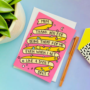 Thank You Mum Greeting Card