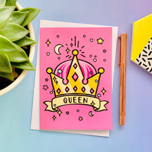 Load image into Gallery viewer, Queen Greeting Card