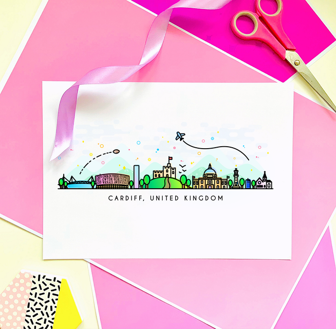 Cardiff Skyline Wall Art Print