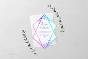 Diamond Wedding Invitation/Save the Date