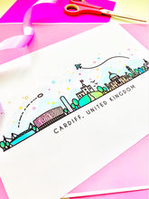 Load image into Gallery viewer, Cardiff Skyline Wall Art Print